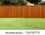 a pleasant sunny backyard with... | Shutterstock . vector #72570775