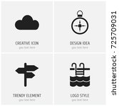 set of 4 editable holiday icons....