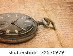 watch on an old notebook with... | Shutterstock . vector #72570979