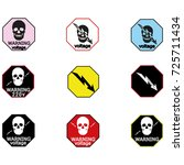 stickers for electrical... | Shutterstock .eps vector #725711434
