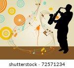 Jazz Saxophonist Retro Theme....