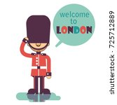 welcome to london background.... | Shutterstock .eps vector #725712889