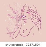vector illustration of beauty... | Shutterstock .eps vector #72571504