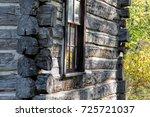 leaves reflect off window in...   Shutterstock . vector #725721037