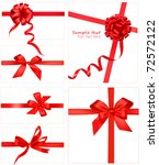 big set of red gift bows with... | Shutterstock .eps vector #72572122