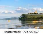 scenic view of the lake... | Shutterstock . vector #725723467