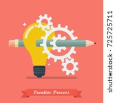 creative process idea concept.... | Shutterstock .eps vector #725725711