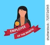 employee of the month flat... | Shutterstock .eps vector #725726545