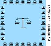 libra icon  balance vector... | Shutterstock .eps vector #725731981