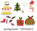 christmas clip art.christmas... | Shutterstock .eps vector #725732671