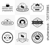 vintage coffee cafe logo... | Shutterstock .eps vector #725735881