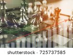 investment leadership or... | Shutterstock . vector #725737585