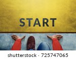 start background  top view of... | Shutterstock . vector #725747065