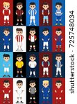 vector set football   soccer...   Shutterstock .eps vector #725748034