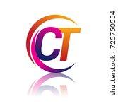 initial letter ct logotype...   Shutterstock .eps vector #725750554