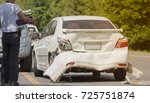 a car accident. traces of... | Shutterstock . vector #725751874