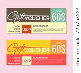 gift voucher vector background... | Shutterstock .eps vector #725753524