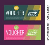 gift voucher vector background... | Shutterstock .eps vector #725753554
