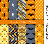 ten halloween different... | Shutterstock .eps vector #725754931