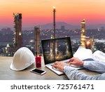 engineering industry concept in ... | Shutterstock . vector #725761471