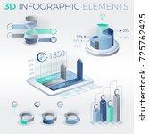 3d infographic elements | Shutterstock .eps vector #725762425