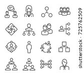 simple collection of teamwork...   Shutterstock .eps vector #725762509