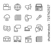 simple collection of mass media ... | Shutterstock .eps vector #725762527