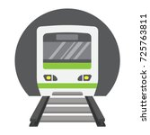 subway train flat icon ...