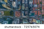 aerial view shot from drone... | Shutterstock . vector #725765074