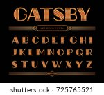 vector of gatsby font and... | Shutterstock .eps vector #725765521