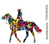 butterflies patterned of girl...   Shutterstock .eps vector #725765551