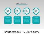modern info graphic template... | Shutterstock .eps vector #725765899