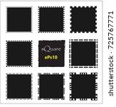 set of empty scribble square... | Shutterstock .eps vector #725767771