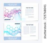 templates for square brochure.... | Shutterstock .eps vector #725768041