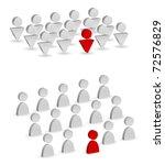 group leader concept   Shutterstock .eps vector #72576829