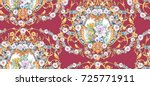 baroque seamless pattern with...   Shutterstock . vector #725771911