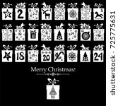 merry christmas. advent... | Shutterstock .eps vector #725775631