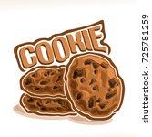 vector logo for homemade cookie ... | Shutterstock .eps vector #725781259