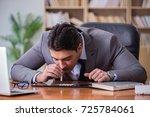 drug addict businessman in the... | Shutterstock . vector #725784061