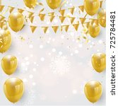 celebration party banner with...   Shutterstock .eps vector #725784481