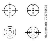 crosshair icon set | Shutterstock .eps vector #725785525