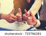 business man thumb up for good... | Shutterstock . vector #725786281