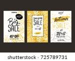 autumn sale background template.... | Shutterstock .eps vector #725789731