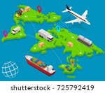 delivery logistic service... | Shutterstock .eps vector #725792419