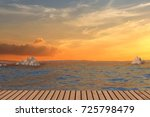 seaview with sunset natural... | Shutterstock . vector #725798479