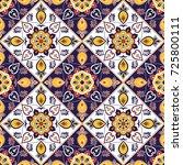 portuguese tile pattern... | Shutterstock .eps vector #725800111