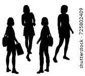 vector silhouettes of girls... | Shutterstock .eps vector #725802409