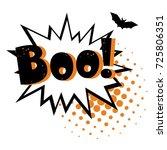halloween style pop art icon... | Shutterstock .eps vector #725806351