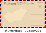 vintage postcard with map of... | Shutterstock .eps vector #725809231