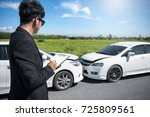 side view of writing on... | Shutterstock . vector #725809561